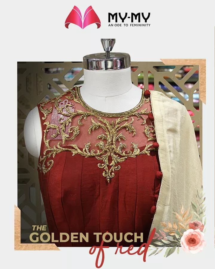 Radiate like a star with this golden attire!  #MyMy #MyMyCollection #ExculsiveEnsembles #ExclusiveCollection #Ahmedabad #Gujarat #India
