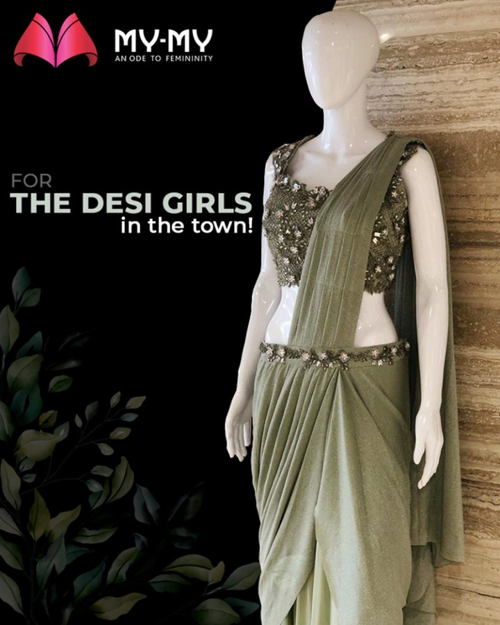 Done folding your saree? Grab this ready-to-wear saree & slay like a diva!  #SoftAppearances #EtherealLook #DroolworthyDesign #TrendingOutfits #AssortedEnsembles #FemaleFashion #Ahmedabad #MYMY #Gujarat
