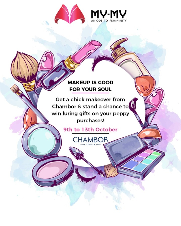 Get a chick makeover from Chambor & stand a chance to win luring gifts on your peppy purchases!  P.S. This makeover is for free & you cannot afford to miss this!  #Makeover #Makeup #Accessories #NavratriOffer #NavratriLook #FestiveLook #BeautyMYMY #Gujarat #India