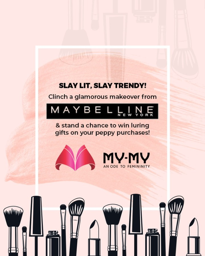 Slay lit, slay trendy! Clinch a glamorous makeover from Maybelline & stand a chance to win luring gifts on your peppy purchases! P.S. This makeover is for free & you cannot afford to miss this!  #Makeover #Makeup #Accessories #Diwalilook #Diwalimakeover #FestiveLook #BeautyMYMY #Gujarat #India