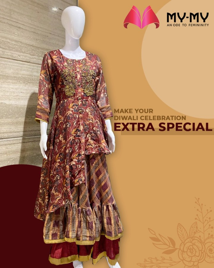 Add this beautiful piece to your collection and flaunt it this Diwali  #MyMy #MyMyCollection #ExculsiveEnsembles #ExclusiveCollection #Ahmedabad #Gujarat #India