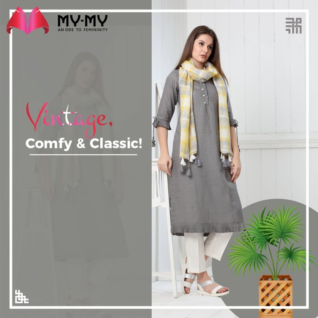 This week calls for vintage, comfy & classic look.  #MyMy #MyMyCollection #Vintage #Comfy #Classic #Comfortableoutfits #WesternOutfits #vibrantcolors #ExculsiveEnsembles #ExclusiveCollection #Ahmedabad #Gujarat #India