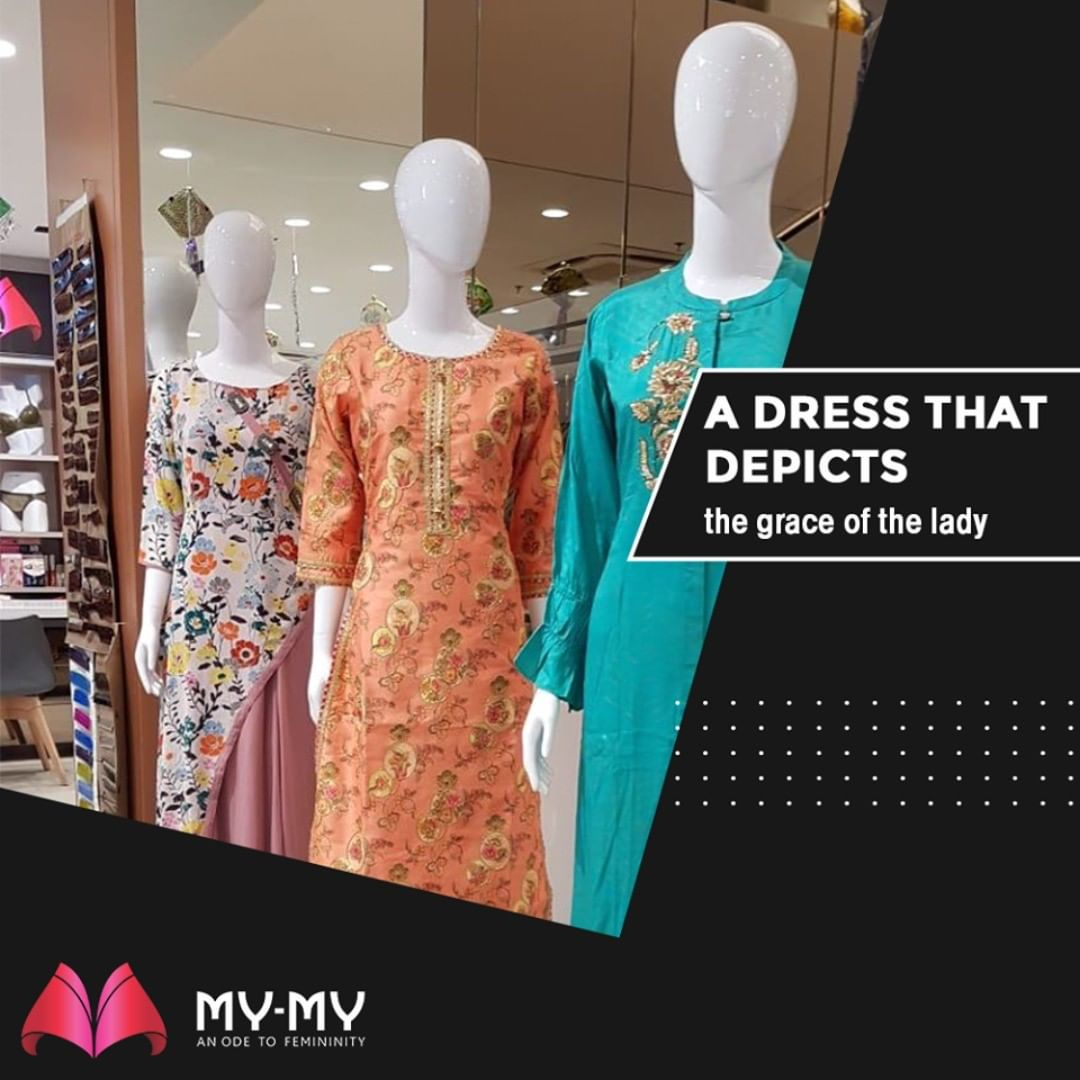 A dress that depicts the grace of the lady.  #MyMy #MyMyCollection #Comfy #Classic #Comfortableoutfits #WesternOutfits #vibrantcolors #ExculsiveEnsembles #ExclusiveCollection #Ahmedabad #Gujarat #India
