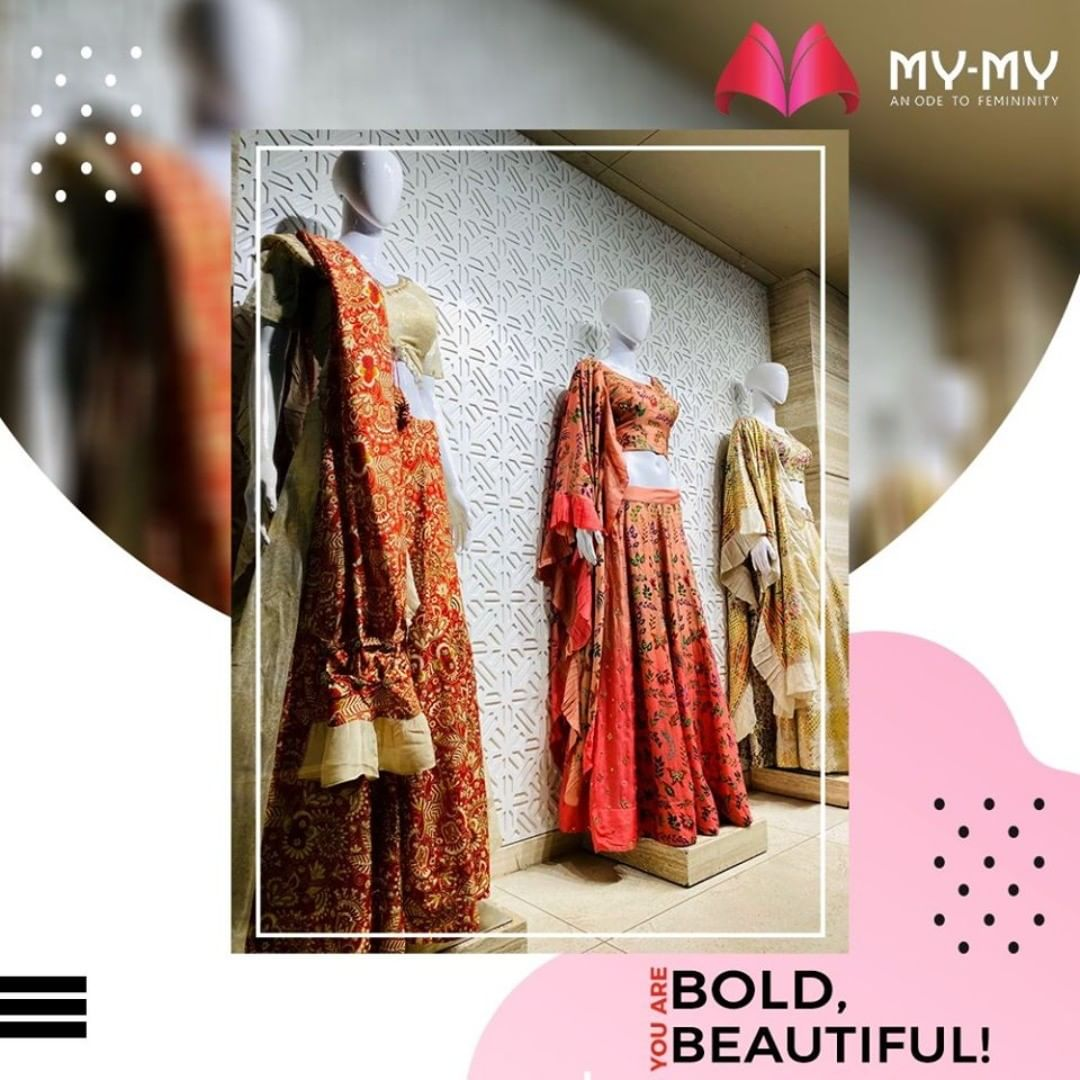 We appreciate your sass and beauty. To intensify it we bring you the outfit that suits you the most. Be Bold, Be Beautiful with My-My!  #MyMy #MyMyCollection #EthnicCollecton #ExculsiveEnsembles #ExclusiveCollection #Ahmedabad #Gujarat #India