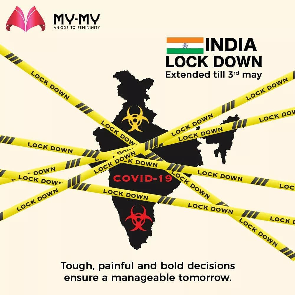 Tough, painful and bold decisions ensure a manageable tomorrow. #Lockdown extended till 3rd may.  #IndiaFightsCorona #Coronavirus #MyMy #MyMyCollection #CoolestCollecton #ExculsiveEnsembles #ExclusiveCollection #Ahmedabad #Gujarat #India