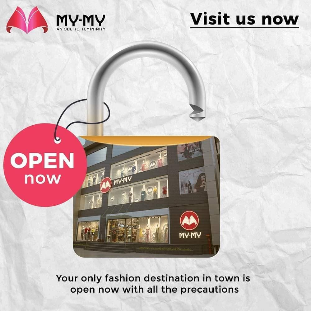 Your only fashion destination in town is open now with all the precautions. Visit us now.  #MyMyEdition #StayHome #StaySafe #CoronaVirus #Covid19 #ProtectYourself #IndiafightsCorona