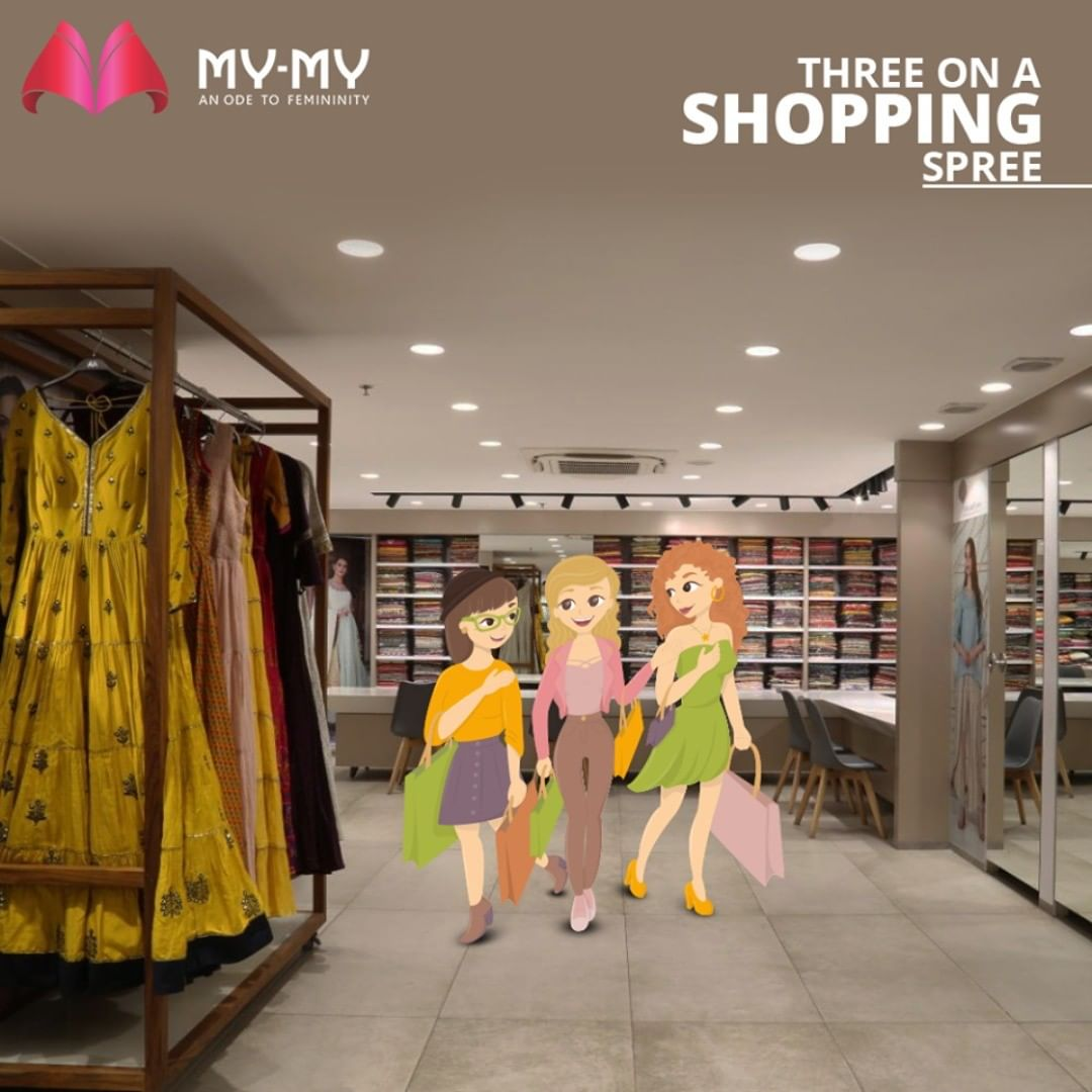 When was the last time you went shopping with your friends? Do not stop shopping because it is therapy. But follow the new normal ways of living & shopping.  #MyMy #MyMyCollection #EthnicCollecton #ExculsiveEnsembles #ExclusiveCollection #Ahmedabad #Gujarat #India
