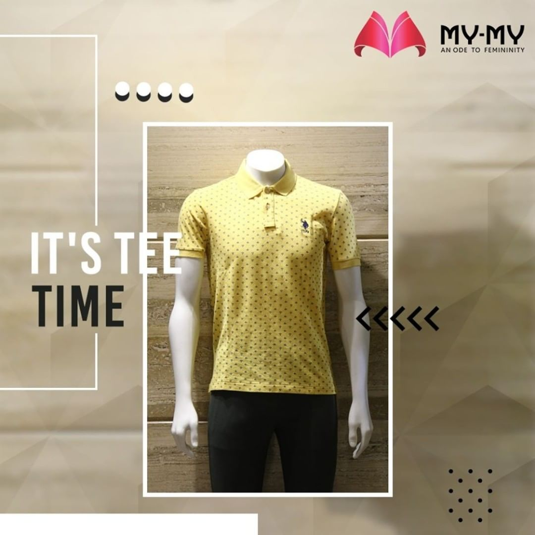 Make your days simpler and more fun with Collar T-shirts paired with Comfy Jeans.  #MyMy #MyMyCollection #EthnicCollecton #ExculsiveEnsembles #ExclusiveCollection #Ahmedabad #Gujarat #India