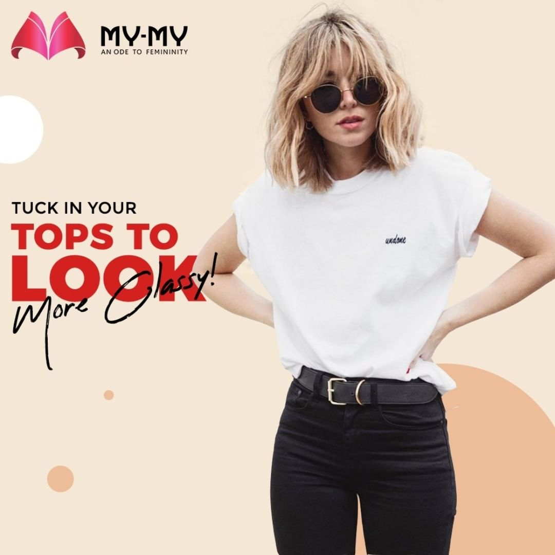 :: Style Tips::  Get a more Polished and Classy look by tucking in your tops and complete the outfit with a Statement belt.  #MyMy #MyMyCollection #Tops #Clothing #Fashion #Classy #Style #WomensFashion #ExculsiveEnsembles #ExclusiveCollection #Ahmedabad #Gujarat #India