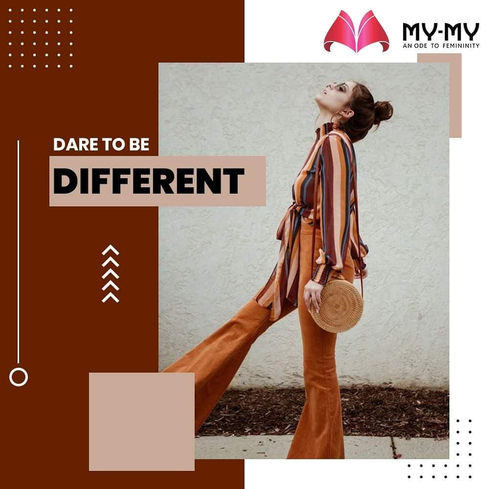 Dare to be Different with your own unique style of clothing that let's you stand out from the crowd.  #MyMy #MyMyCollection #Clothing #Fashion #OOTD #Stripes #FashionTrend #Trendy #Casual #Style #WomensFashion #ExculsiveEnsembles #ExclusiveCollection #Ahmedabad #Gujarat #India