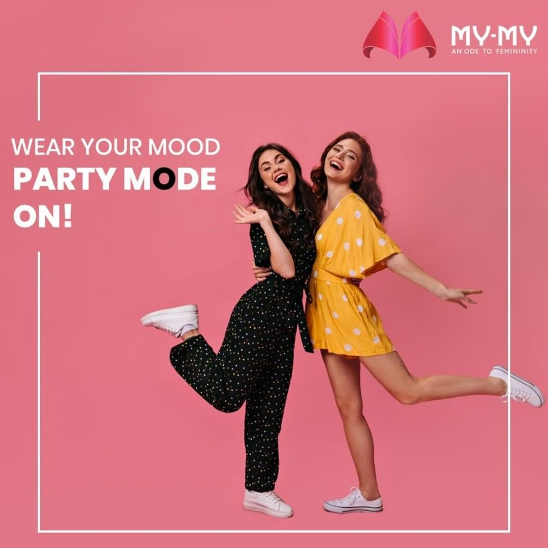 Wear your Mood and Celebrate every moment of Life. Partying with your best friends will be more fun in a comfortable yet trendy party outfit.  #MyMy #MyMyCollection #Clothing #Fashion #WearYourMood #Party #FashionTrend #Trendy #Casual #Style #WomensFashion #ExculsiveEnsembles #ExclusiveCollection #Ahmedabad #Gujarat #India