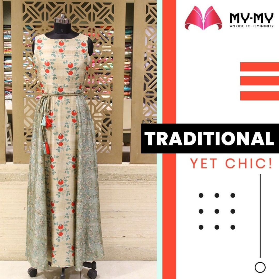 Go Gaga about the upcoming festivals with a fancy gown that gives a traditional as well as a chic look.  #MyMy #MyMyCollection #Clothing #Fashion #Ethnic #Gown #WomensFestiveWear #WomensFashion #ExculsiveEnsembles #ExclusiveCollection #Ahmedabad #Gujarat #India