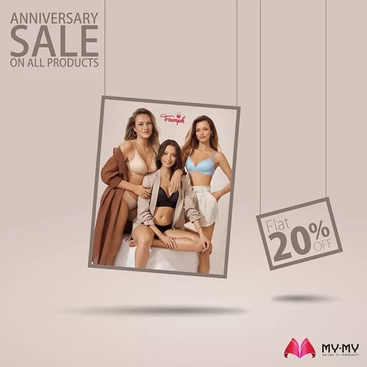 My-My brings to you an exciting Lingerie Sale by Triumph. Get Flat 20% OFF on all products from 1st to 15th Nov.  For More details : www.instagram.com/triumphlingerie/  #MyMy #MyMyCollection #Lingerie #Triumph #TriumphLingerie #LingerieSale #ExclusiveCollection #Fashion #Ahmedabad #Gujarat #India