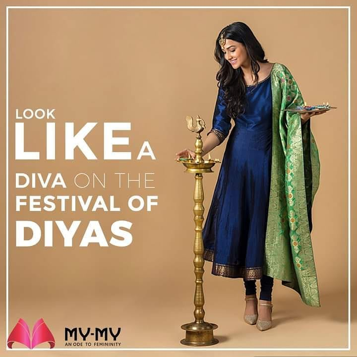 This festive season, dress up, look like a diva and celebrate the festival of diyas. A plane royal blue kurti with a contrasting resham dupatta is a perfect choice for celebration.  #MyMy #MyMyCollection #Clothing #Fashion #Ethnic #Kurti #FestiveKurti #Anarkali #Style #WomensFashion #ExculsiveEnsembles #ExclusiveCollection #Ahmedabad #Gujarat #India