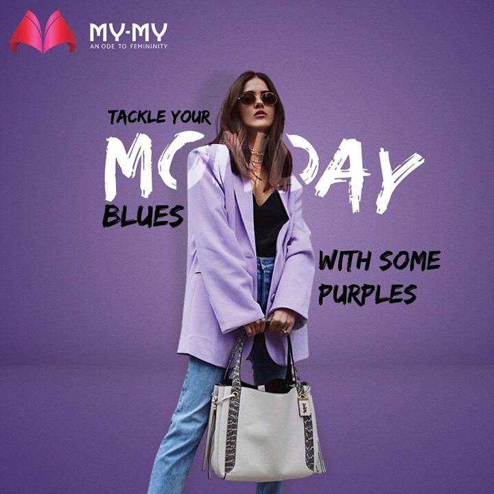 Tackle your Monday Blues at your office with some purples. This oversized blazer is perfect to keep you warm in the winters and paired with jeans, gives an alluring look.  #MyMy #MyMyCollection #Clothing #Fashion #Outfit #FashionOutfit #Jacket #Blazer #WinterOutfits #Style #WomensFashion #Ahmedabad #SGHighway #SGRoad #CGRoad #Gujarat #India