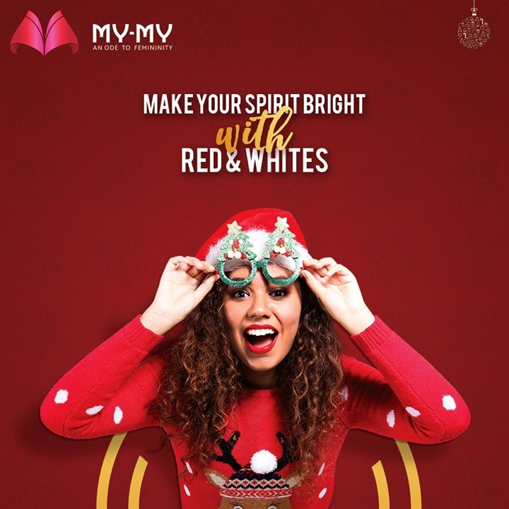 This Christmas, Make your Spirit Bright with Red & Whites.   #MyMy #MyMyCollection #Clothing #Fashion #Outfit #FashionOutfit #Dresses #Christmas Outfit #WinterDresses #CasualWear #WinterOutfits #Style #WomensFashion #Ahmedabad #SGHighway #SGRoad #CGRoad #Gujarat #India