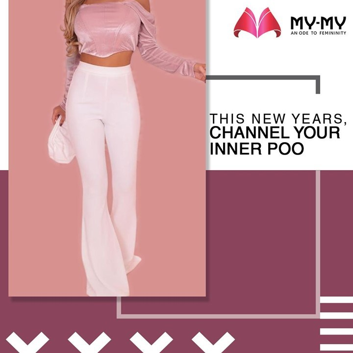 This New Years, Channel your Inner Poo with a Pink Velvet Puff Sleeve Corset Crop Top and White Pants.  #MyMy #MyMyCollection #Clothing #Fashion #Outfit #FashionOutfit #PooOutfit #CropTop #NewYearOutfit #FancyWear #WinterOutfits #Style #WomensFashion #Ahmedabad #SGHighway #SGRoad #CGRoad #Gujarat #India