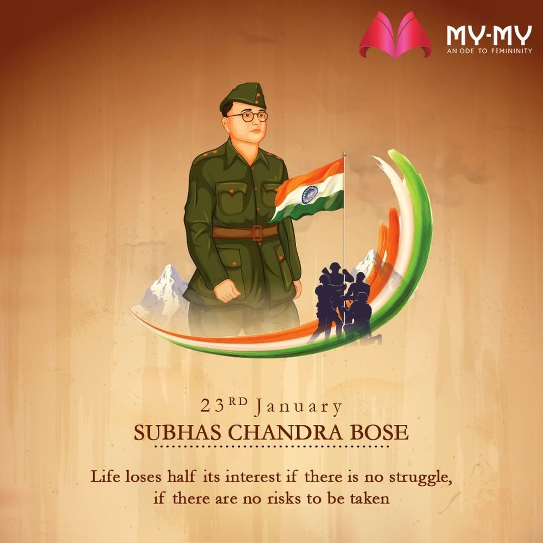 Life loses half its interest if there is no struggle, if there are no risks to be taken.  #SubhasChandraBose #NetajiJayanti #NetajiSubhasChandraBose #ParakramDiwas #MyMy #MyMyCollection #Clothing #Fashion #Ahmedabad #Gujarat #India