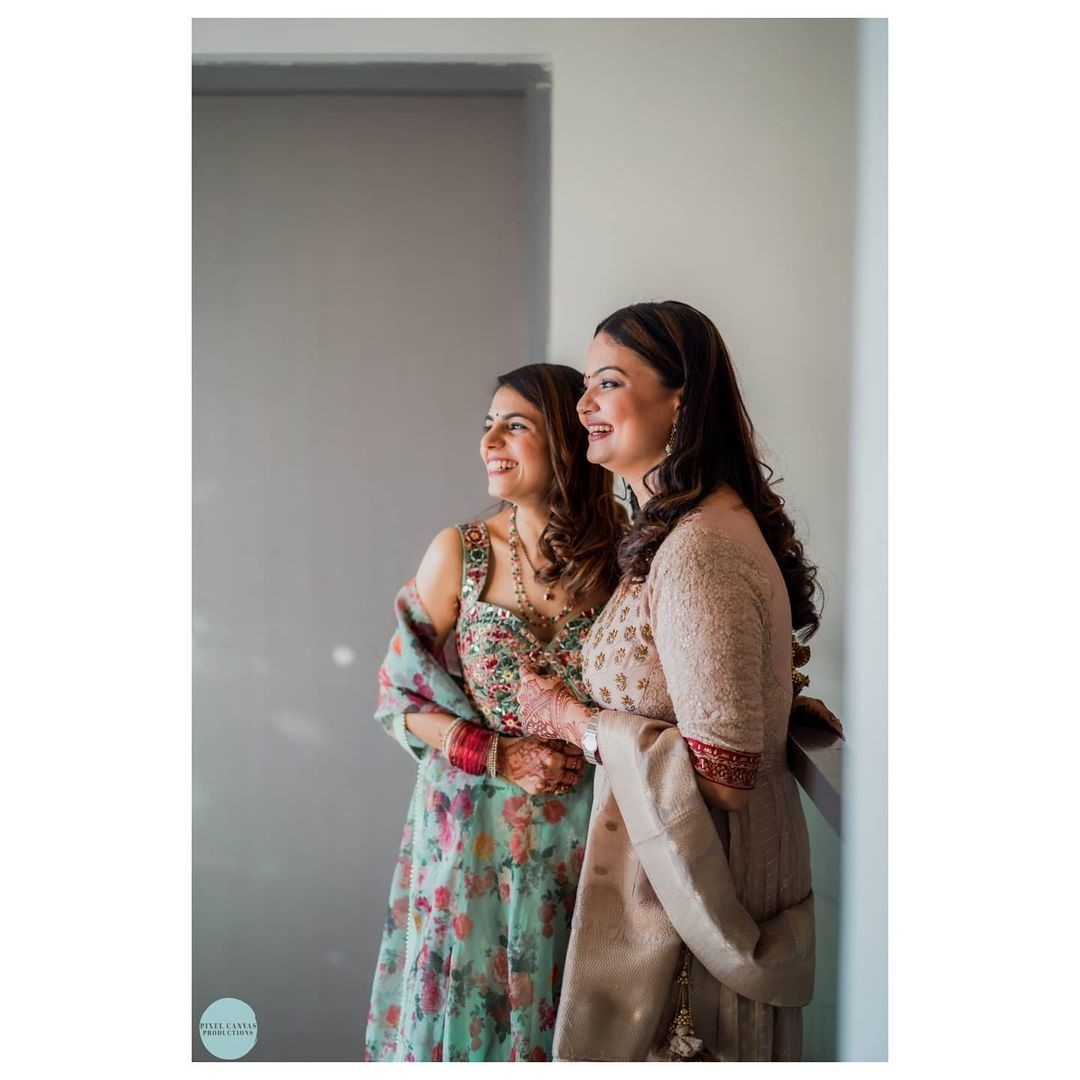@krutidavepatel and @kairavi12 are sisters bonding over the wedding festivities and cherishing the old memories in beautiful outfits and beaming smiles.  @kairavi12 Outfit Credits: @mymyahmedabad  #ClientDiaries #MyMyCollection #Clothing #Fashion #Outfit #FashionOutfit #Dress #Kurta #EthnicCollection #FestiveWear #WeddingOutfits #Style #WomensFashion #Ahmedabad #SGHighway #SGRoad #CGRoad #Gujarat #India