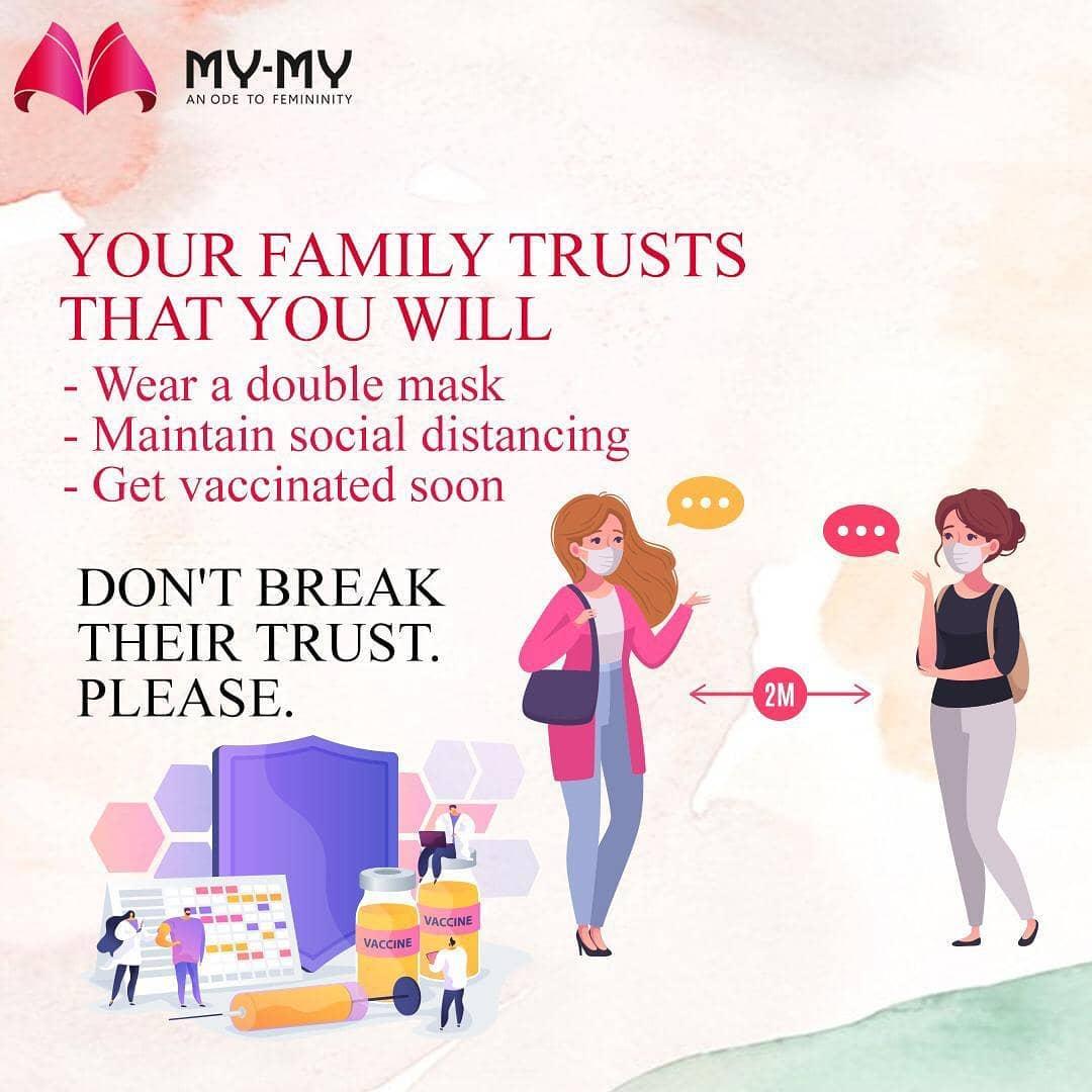 Your family trusts you and so do we.  Hope you won't break this trust.  #vaccine #weardoublemask #socialdistancing #dontbreaktrust #wetrustyou #vaccination #vaccinationdrive #ɢᴇᴛᴠᴀᴄᴄɪɴᴀᴛᴇᴅ #ᴠᴀᴄᴄɪɴᴇssᴀᴠᴇʟɪᴠᴇs #vaccinesafetyadvocate #mymy #mymyahmedabad #staysafe #stayathome #thistooshallpass