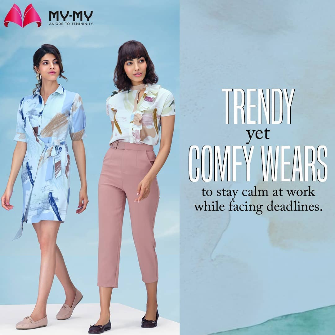 No matter how good you are at your work, things get smoother when you are in your comfy wears, doesn't it?  Shop from the most amazing collection in town from your nearest My - My stores. . . . . #MyMy #MyMyCollection #comfywear #stylishoutfits  #Clothing #Fashion #Outfit #FashionOutfit #summerwear #nightwear #intimatewear  #swimwearfashion #cosmetics #swimwear #summeroutfits #Style #fashioninahmedabad  #ahmedabadclothing #ahmedabadfashion #gujaratfashion #WomensFashion #Ahmedabad #SGHighway #SGRoad #CGRoad #Gujarat