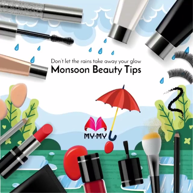Stay beautiful this monsoon with our skin and hair care tips!  Our friendly and knowledgeable staff can help you pick the best products to keep you glowing this season. Visit your nearest My-My shop located at C.G. Road and S.G. Highway.  #MyMyAhemdabad #BeautyDestination #MonsoonBeautyTips